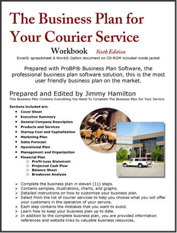 Delivery Service Business Plan Template the Business Plan for Your Courier Service