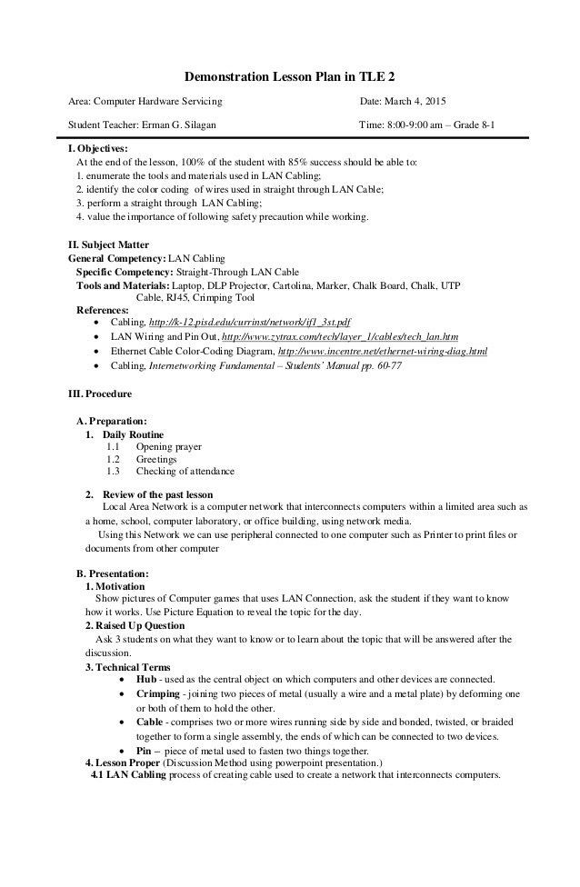 Demo Lesson Plan Template Demo Lesson Plan Template New Final Demo Semi Detailed