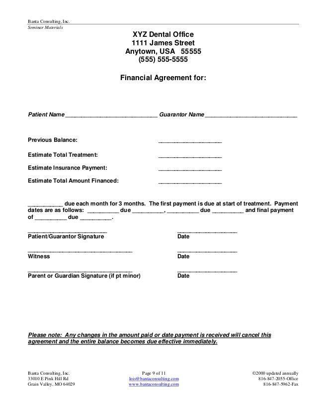 Dental Payment Plan Agreement Template Dental Payment Plan Agreement Template Lovely 23 Patient
