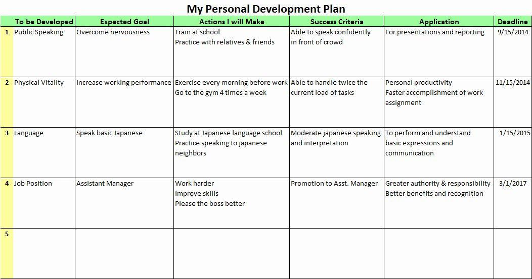 Development Plan Template Word Development Plan Template Word Inspirational Development
