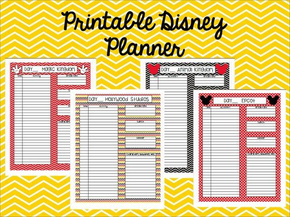 Disney Vacation Planner Template Instant Download Printable Disney Planner Goodnotes