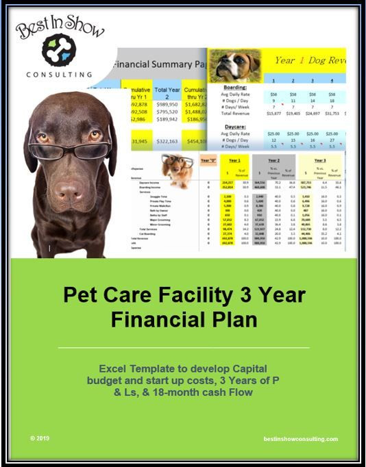 Dog Daycare Business Plan Template Kennel Financial Plan Excel Template