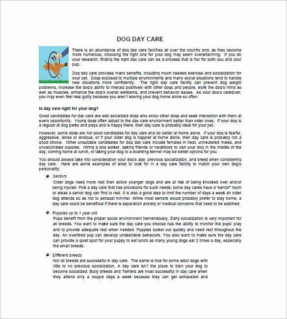 Dog Daycare Business Plan Template Preschool Business Plan Template Elegant Daycare Business