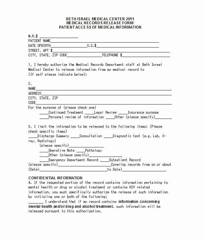 Dsm 5 Treatment Plan Template Emergency Room Release form Template New 29 Urgent Care