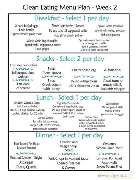 Eat Clean Meal Plan Template Clean Eating Meal Plan Free Includes Breakfast
