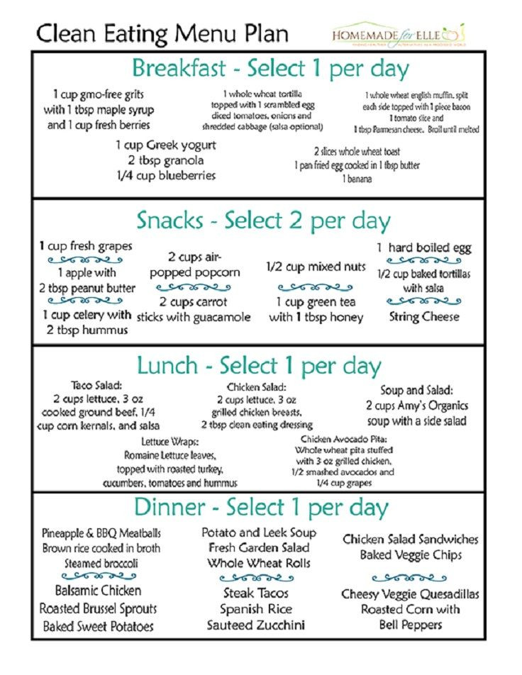 Eat Clean Meal Plan Template Pin On Healthy Choices