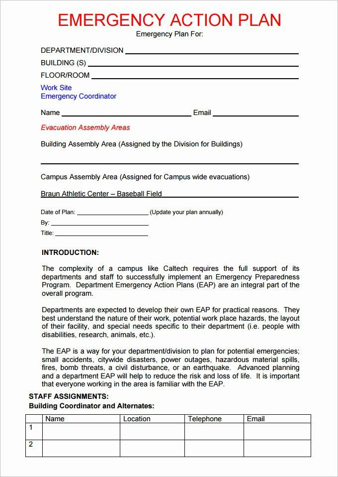 Emergency Evacuation Plan Template Free Emergency Evacuation Plan Template Free Awesome Emergency