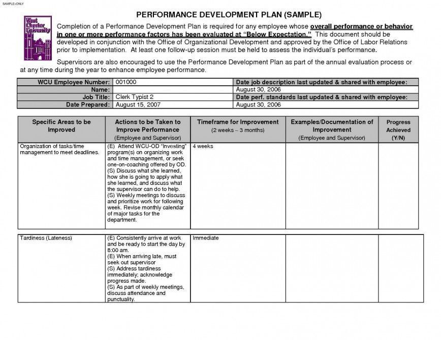 Employee Development Plan Template 24 Employee Development Plan Templates Singular Employee