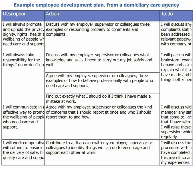 Employee Development Plan Template Employee Development Plans Templates Inspirational Employee