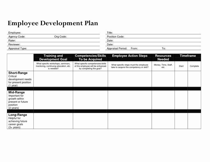 Employee Development Plan Template Excel Employee Development Plans Templates Luxury Individual