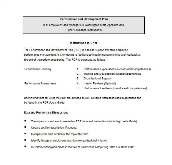 Employee Development Plan Template Word Employee Development Plan Template and Performance Word