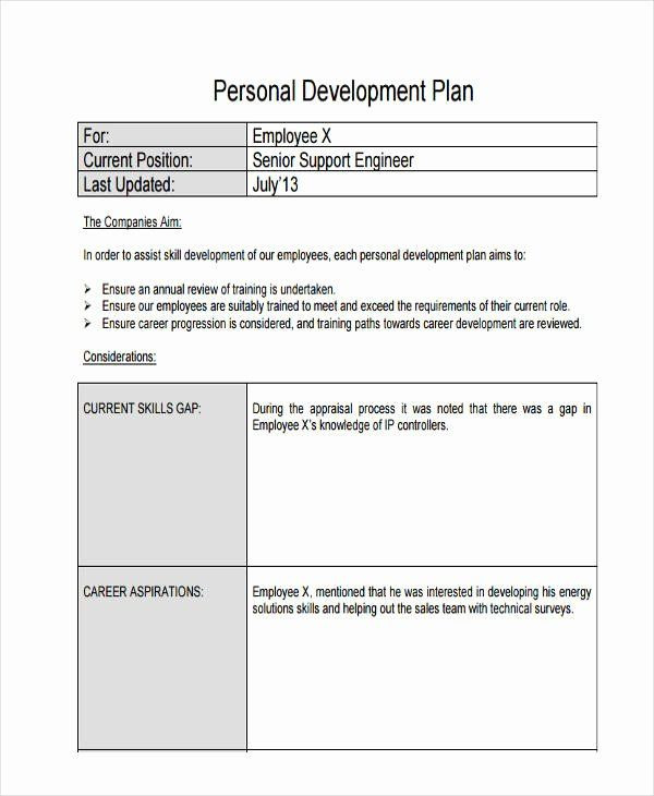 Employee Development Plan Template Word Employee Development Plan Template Inspirational 58
