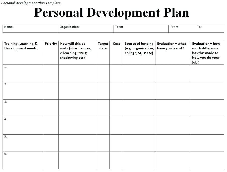 Employee Training Plan Template Excel Employee Development Plan Template Excel Elegant Individual