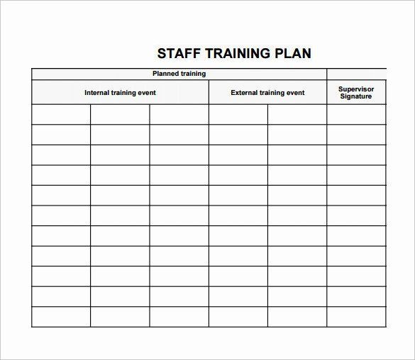 Employee Training Plan Template Excel Individual Employee Training Plan Template Fresh Training