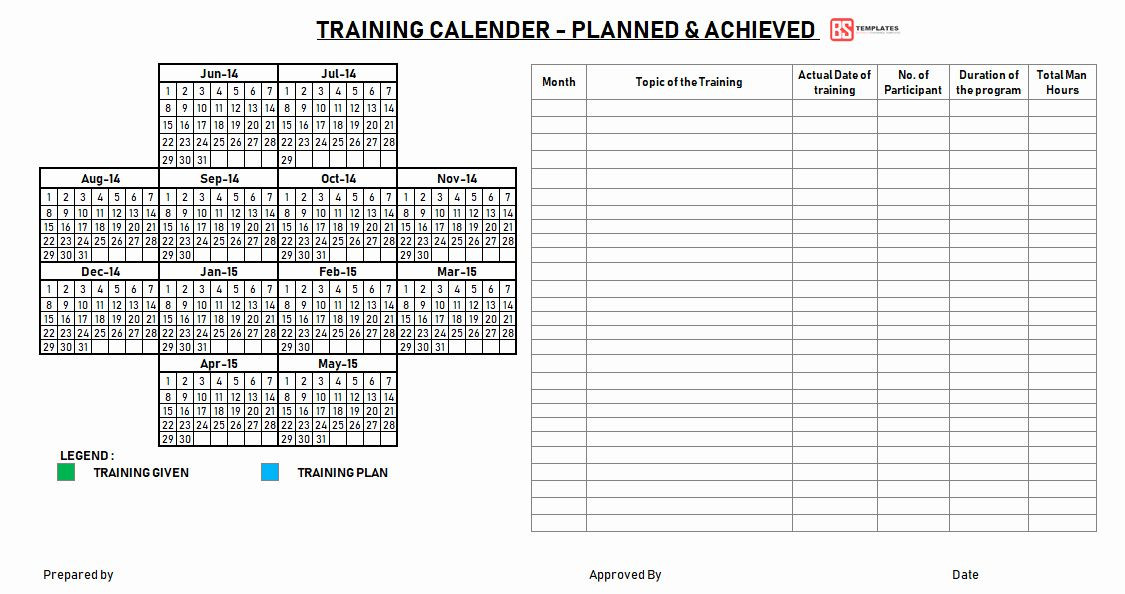 Employee Training Plan Template Excel Training Plan Template Excel Download Unique Employee