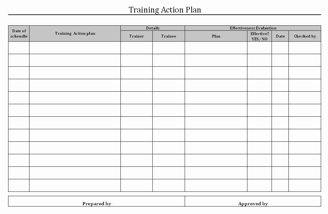 Employee Training Plan Template Excel Training Plan Template Excel Unique Employee Training Matrix