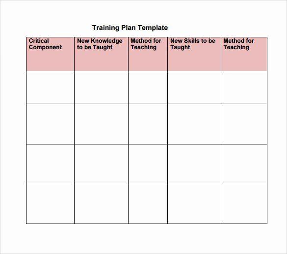 Employee Training Plan Template Training and Development Plan Example New organisational