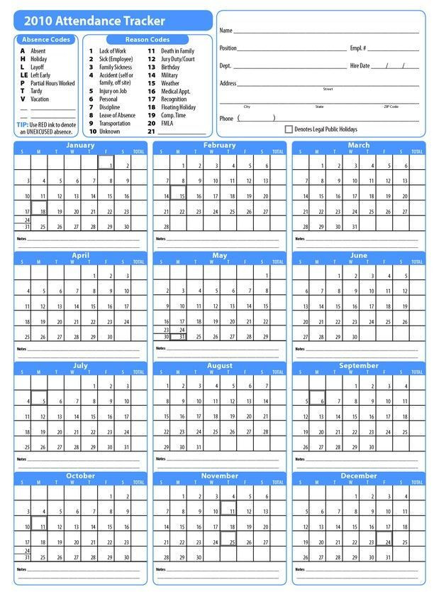 Employee Vacation Planner Template Excel Free attendance Sheet Pdf 2019