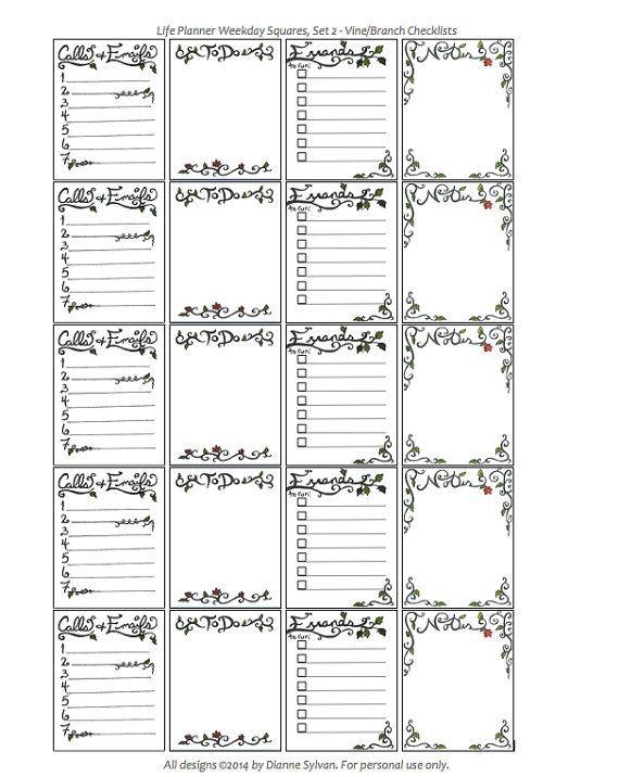 Erin Condren Life Planner Template All New Designs Digital Stickers for Erin Condren Life