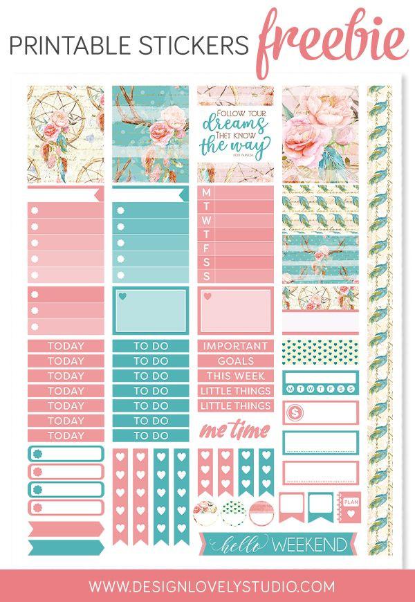 Erin Condren Life Planner Template Free Printable Planner Stickers for Erin Condren Life