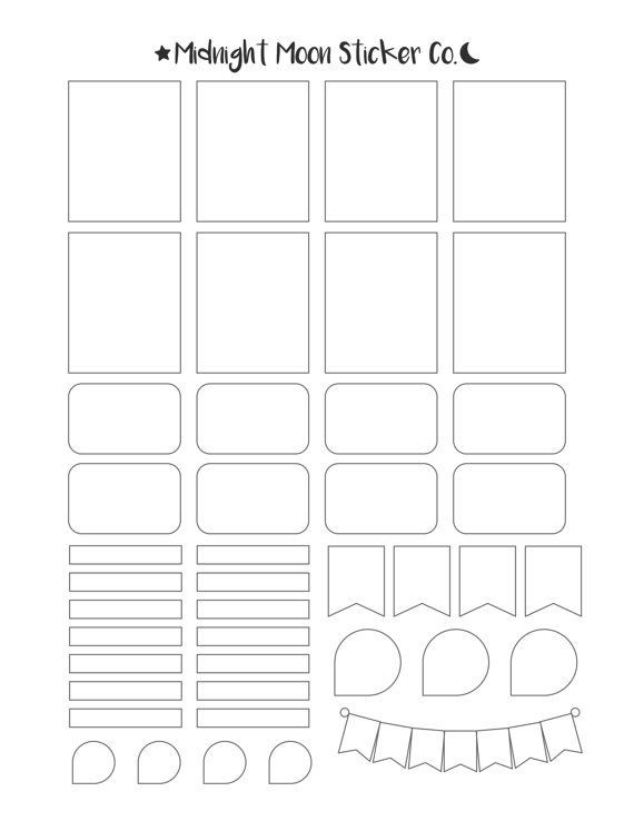 Erin Condren Life Planner Template Mixed Template Printable Template Vertical Erin