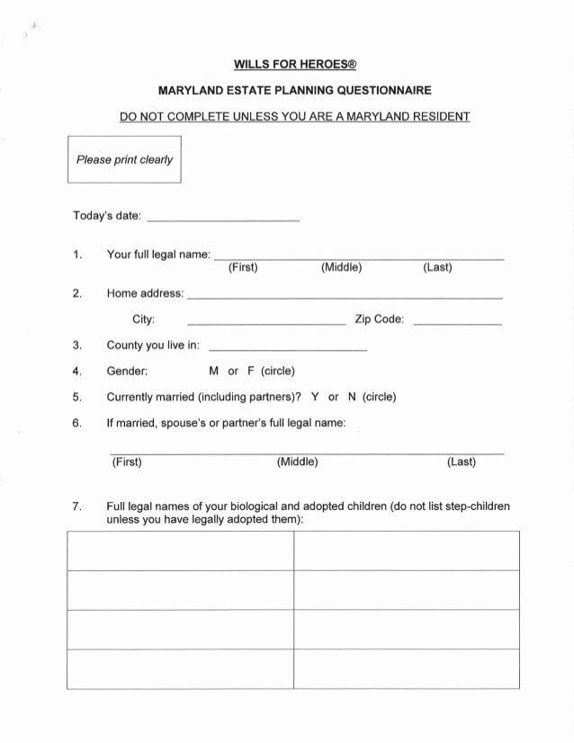 Estate Planning Worksheet Template Estate Planning Worksheet Template Unique Estate Planning