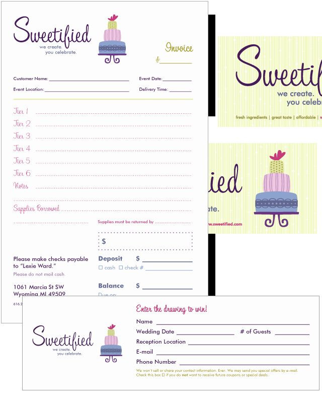Event Planner Invoice Template Bakery order form Template Free Beautiful Free Invoice