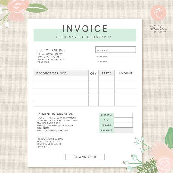 Event Planner Invoice Template Invoice Template Graphy Invoice Business Invoice