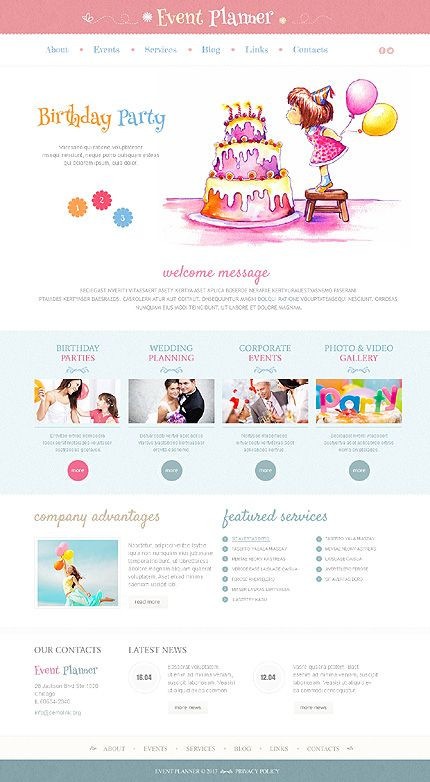 Event Planner Website Template 25 2 Clean and White Wordpress themes