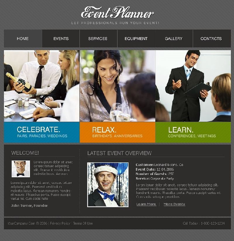 Event Planner Website Template events Website Template Pictures to Pin On Pinterest Pins2