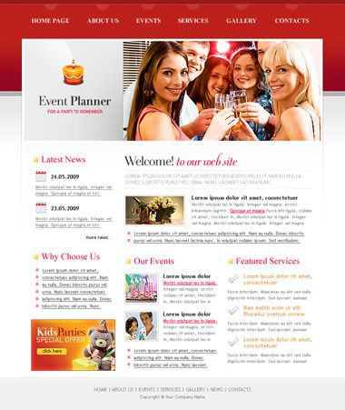 Event Planner Website Template Free event Planner Website Template