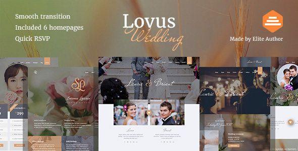 Event Planner Website Template Lovus Wedding Planner Wordpress theme