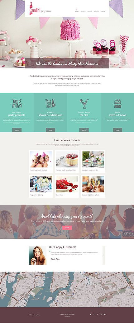 Event Planner Website Template Template Ensegna themes