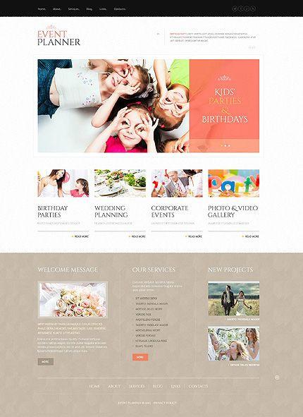 Event Planner Website Template Template event Planner Responsive Wordpress theme