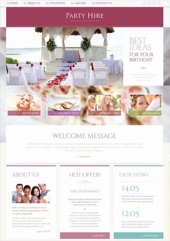 Event Planner Website Template Wedding Planner Website Template Elegant 33 event Planning