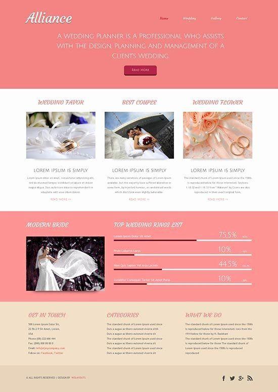 Event Planner Website Template Wedding Planner Website Template Inspirational Wedding