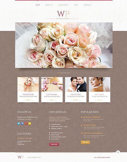 Event Planner Website Template Wedding Wordpress Template