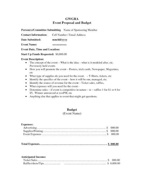 Event Planning Proposal Template Corporate event Proposal Example