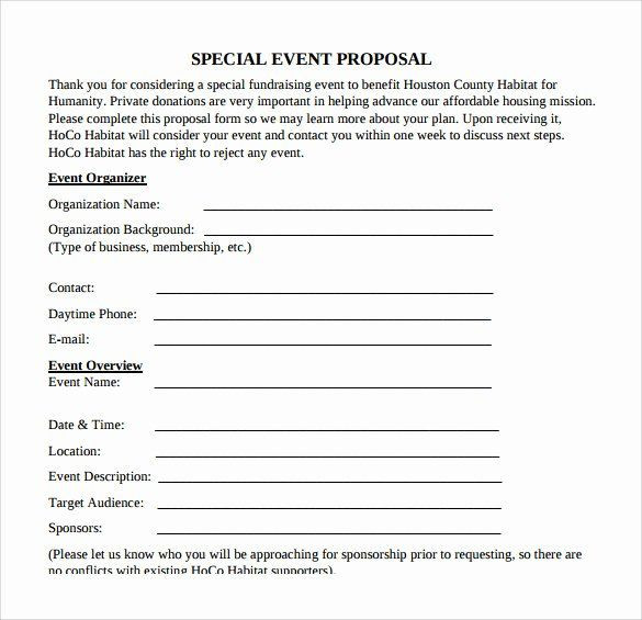 Event Planning Proposal Template event Planning Quote Template Awesome 30 Sample event