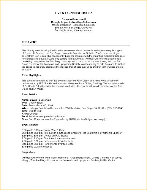 Event Planning Proposal Template event Proposal format Example
