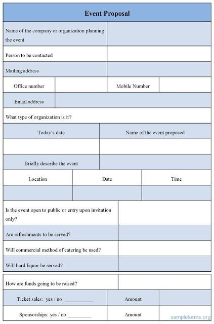 Event Planning Proposal Template event Proposal Sample Letter