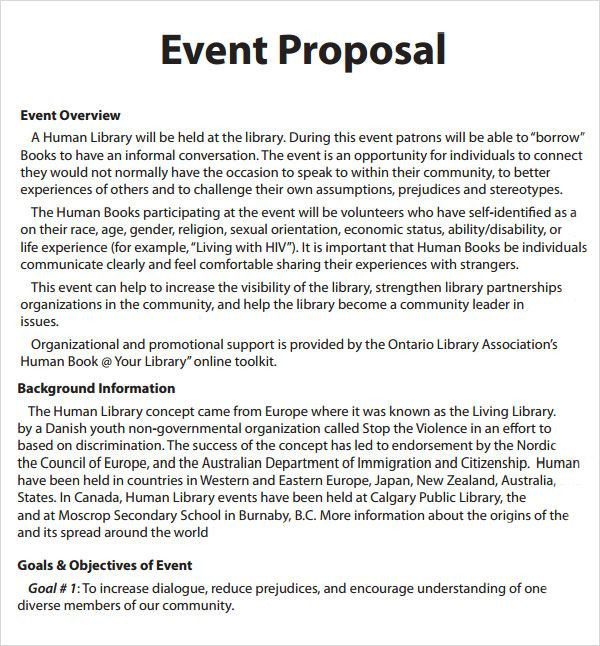Event Planning Proposal Template event Proposal Template 6 Free Pdf Doc Download