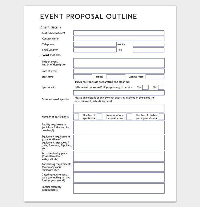 Event Planning Proposal Template Umrissvorlage Für Veranstaltungsvorschlag Word Doc