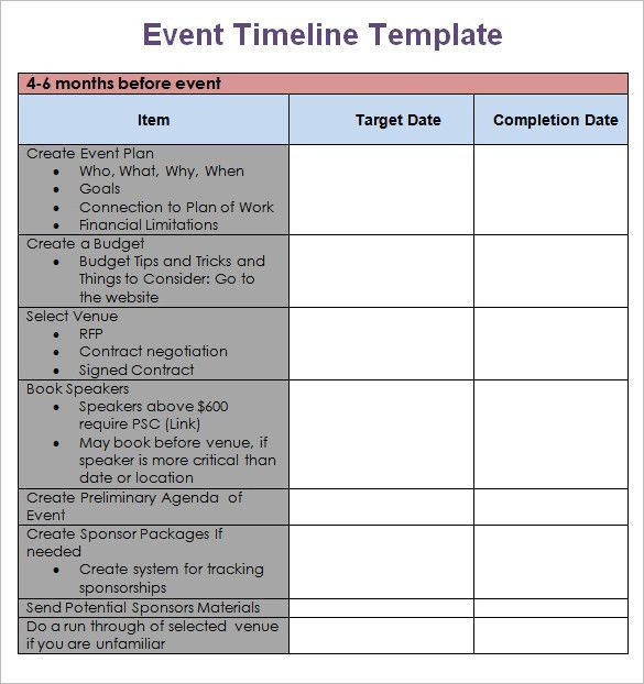 Event Planning Timeline Template event Planning Timeline Template Fresh Templates & Examples