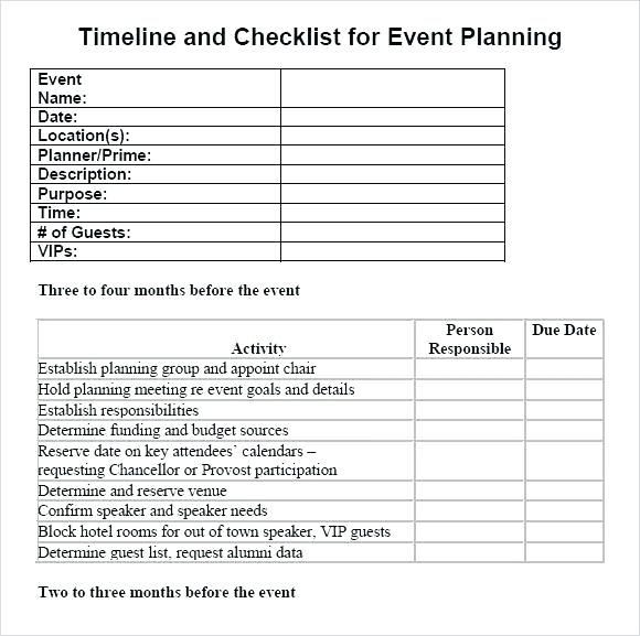 Event Planning Timeline Template Professional event Planning Checklist Templates Template Lab