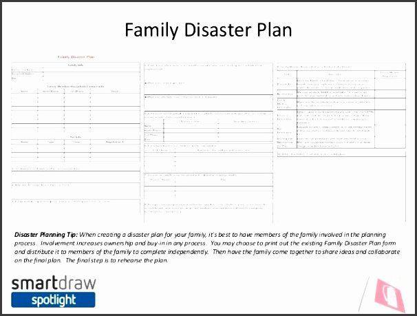 Family Disaster Plan Template Family Disaster Plan Template Elegant 9 Family Emergency