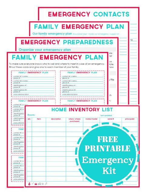 Family Disaster Plan Template Free Emergency Planning Printables
