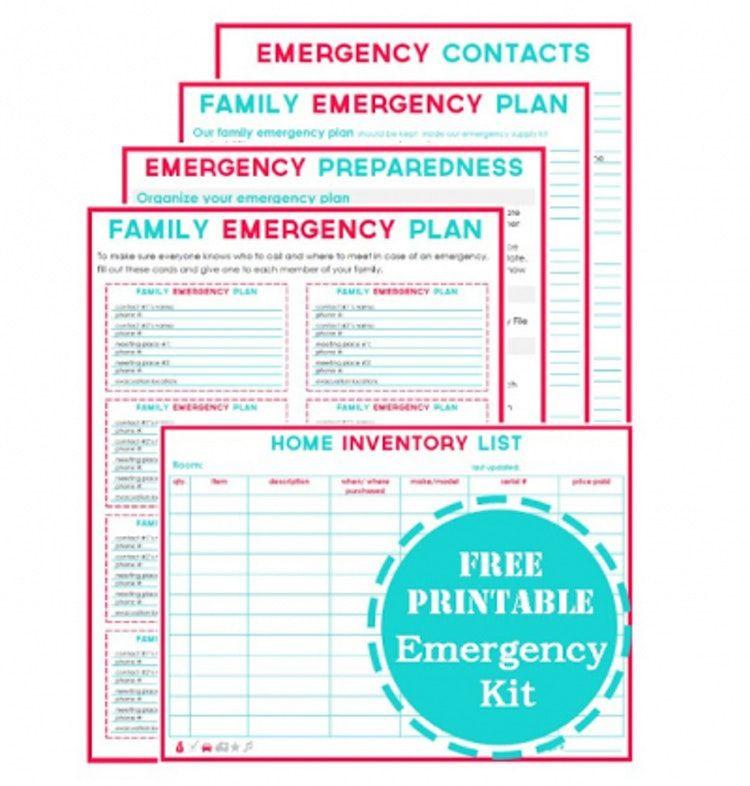 Family Emergency Preparedness Plan Template 4 Printable Emergency Plan Templates