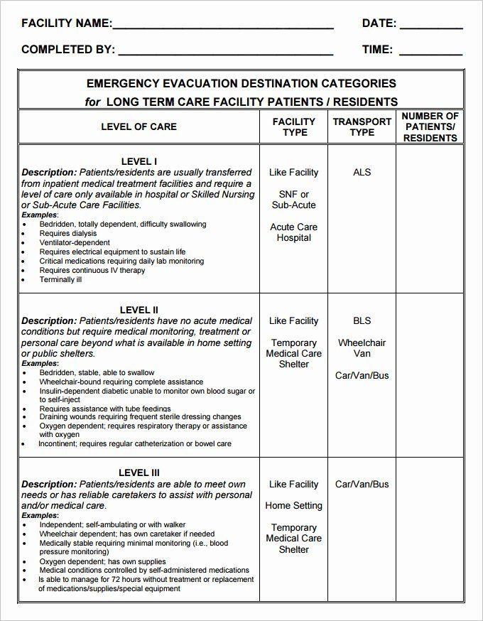Family Emergency Preparedness Plan Template Evacuation Plan Template Free Best Home Emergency Plan