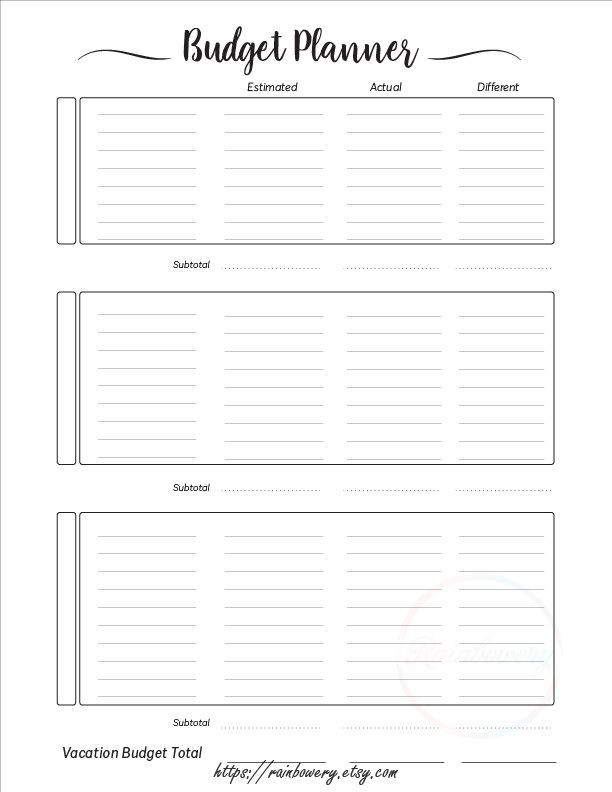 Family Vacation Planner Template Vacation Planner Printable Template Travel Planner